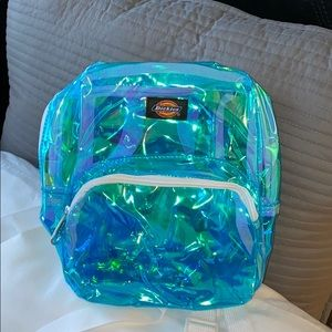 BLUE SEE-THROUGH IRIDESCENT DICKIES BACKPACK